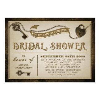 Invitaciones nupciales de la ducha de la llave