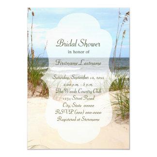 Invitaciones nupciales de la ducha de la playa