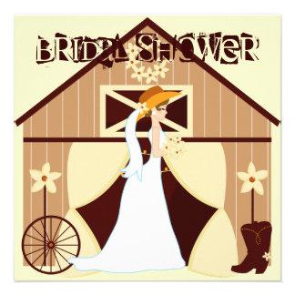 Invitaciones nupciales de la ducha de la vaquera o anuncios personalizados