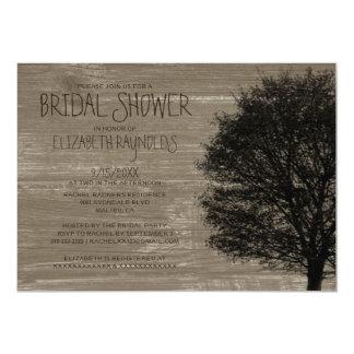Invitaciones nupciales de la ducha de las ramas de invitación 12,7 x 17,8 cm