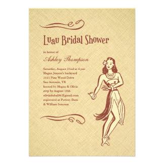 Invitaciones nupciales de la ducha de Luau Invitacion Personalizada