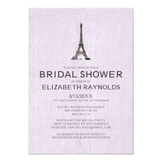 Invitaciones nupciales de la ducha de París Anuncio Personalizado