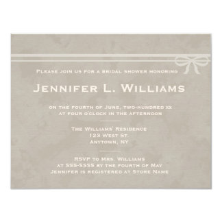 Invitaciones nupciales de la ducha del arco invitación 10,8 x 13,9 cm