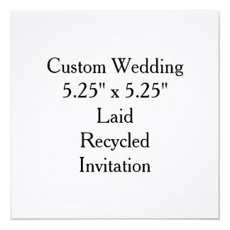 Invitaciones nupciales de la ducha del boda de invitación 13,3 cm x 13,3cm