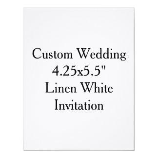 Invitaciones nupciales de la ducha del boda de invitación 10,8 x 13,9 cm