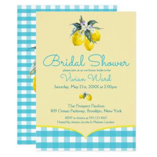 Invitaciones nupciales de la ducha del limón