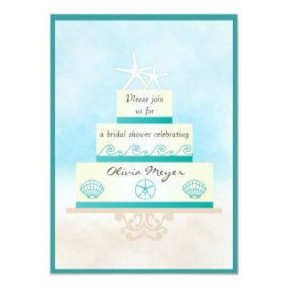 Invitaciones nupciales de la ducha del pastel de invitación 11,4 x 15,8 cm