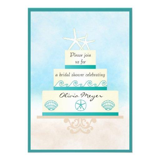 Invitaciones nupciales de la ducha del pastel de b invitacion personalizada