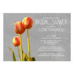 Invitaciones nupciales de la ducha del tulipán