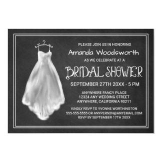 Invitaciones nupciales de la ducha del vestido de invitación 12,7 x 17,8 cm