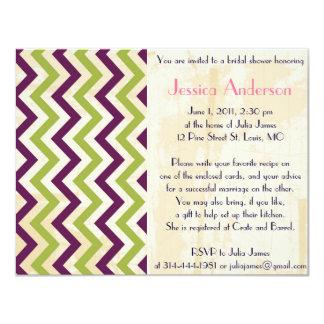 Invitaciones nupciales de la ducha del vintage invitación 10,8 x 13,9 cm