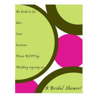Invitaciones nupciales de la ducha postal