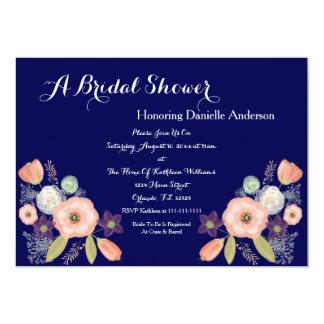 Invitaciones nupciales florales de la ducha de la invitación 12,7 x 17,8 cm