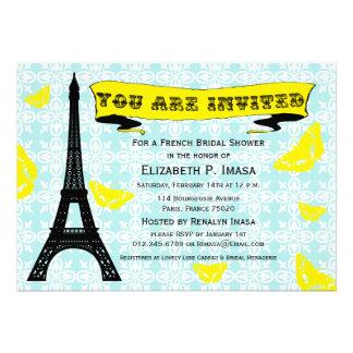 Invitaciones nupciales francesas de la ducha de la