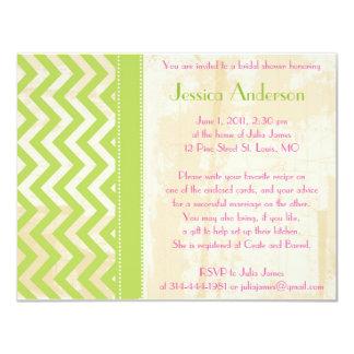 Invitaciones nupciales personalizadas de la ducha invitación 10,8 x 13,9 cm