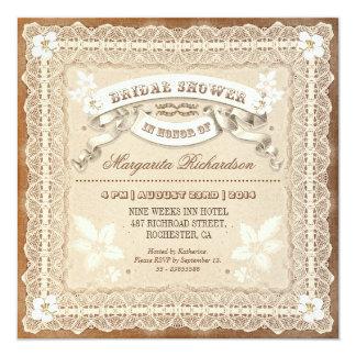 invitaciones nupciales tipográficas de la ducha invitación 13,3 cm x 13,3cm