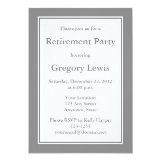 Invitaciones o invitaciones grises personalizadas invitación 12,7 x 17,8 cm