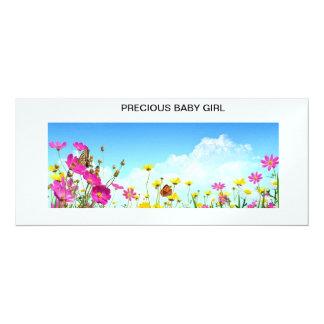 Invitaciones o invitaciones preciosas de la niña invitación 10,1 x 23,5 cm