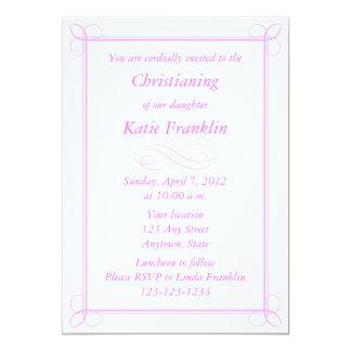 Invitaciones o invitaciones rosadas medias de invitación 12,7 x 17,8 cm