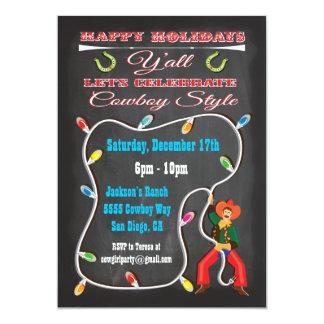 Invitaciones occidentales de la fiesta de Navidad