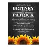 Invitaciones occidentales del boda del girasol del invitación 11,4 x 15,8 cm