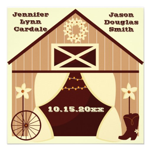 Invitaciones occidentales del boda del vaquero del invitaciones personales