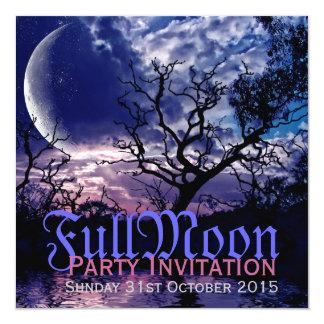 Invitaciones oscuras del fiesta de Halloween de la