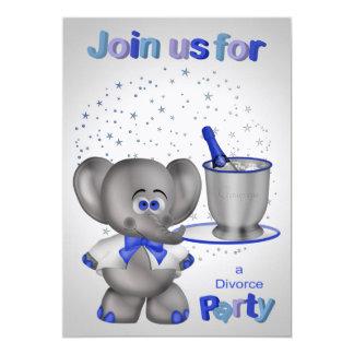 Invitaciones para el fiesta del divorcio invitación 12,7 x 17,8 cm