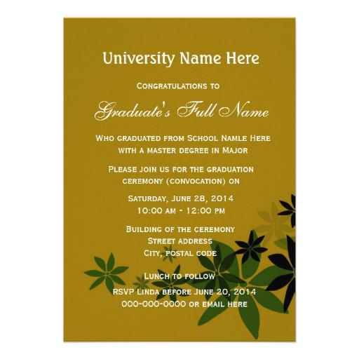 invitaciones graduaci n de la escuela secundaria Quotes
