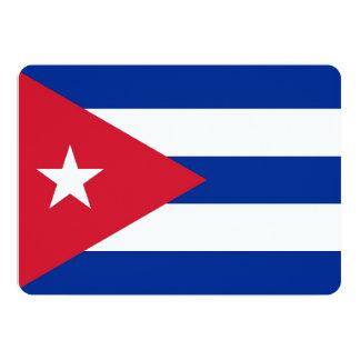 Invitaciones patrióticas con la bandera de Cuba Invitación 12,7 X 17,8 Cm