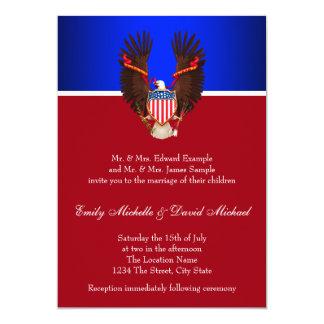 Invitaciones patrióticas del rojo, blancas y