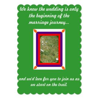 Invitaciones perfectas del boda del verano/de la invitación 12,7 x 17,8 cm