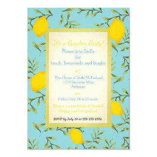 Invitaciones personalizadas de la fiesta de jardín