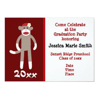 Invitaciones preescolares de la graduación del invitación 12,7 x 17,8 cm