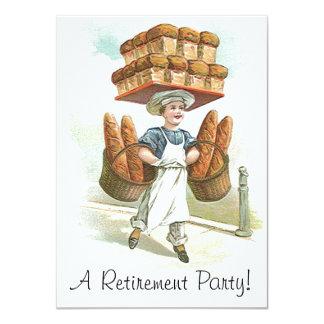 Invitaciones principales del retiro del panadero invitación 11,4 x 15,8 cm