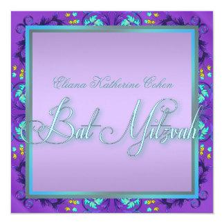 Invitaciones púrpuras azules verde azuladas de