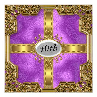 Invitaciones púrpuras baratas de la fiesta de invitación 13,3 cm x 13,3cm