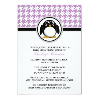 Invitaciones púrpuras de la fiesta de bienvenida invitación 12,7 x 17,8 cm