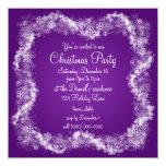 Invitaciones púrpuras de la fiesta de Navidad Invitación 13,3 Cm X 13,3cm