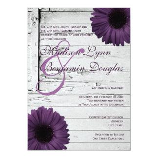 Invitaciones púrpuras Ver2 del boda de la