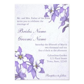 Invitaciones que se casan del ramo 2 de Columbine
