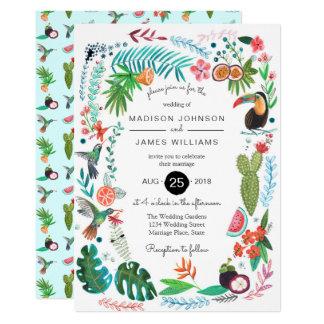 Invitaciones que se casan tropicales de los invitación 12,7 x 17,8 cm