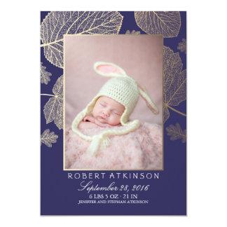 Invitaciones recién nacidas del nacimiento de la invitación 12,7 x 17,8 cm