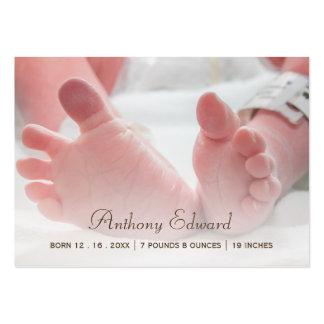Invitaciones recién nacidas del nacimiento de los tarjetas de visita grandes