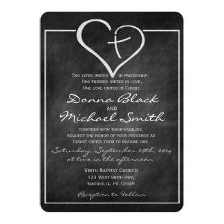 Invitaciones religiosas cruzadas del boda del invitación 12,7 x 17,8 cm