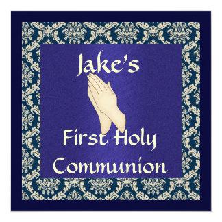 INVITACIONES RELIGIOSAS de la comunión santa del Invitación 13,3 Cm X 13,3cm