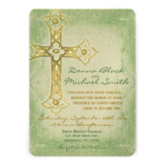 Invitaciones religiosas de la esquina cruzadas del invitacion personal