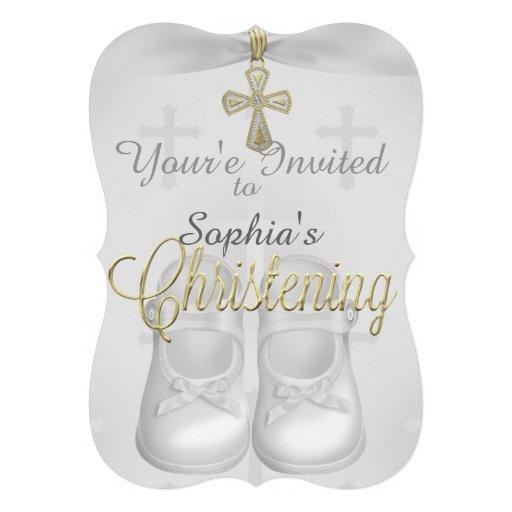 Invitaciones religiosas del bautizo de las niñas comunicado