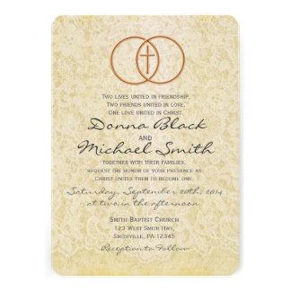 Invitaciones religiosas del boda del cordón del vi comunicados personales