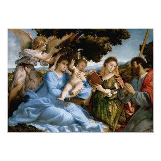 Invitaciones religiosas del personalizado del arte invitación 12,7 x 17,8 cm